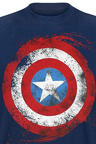 Marvel Captain America Shield T-Shirt Uomo