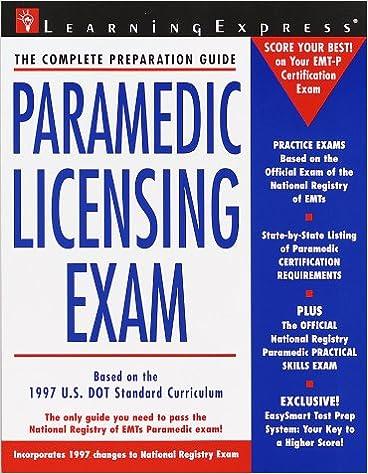 Paramedic Licensing Exam Paramedic Exam 9781576851487