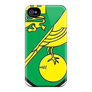 Fashion QRdUepx1938IkqDP Case Cover For Iphone 4/4s(best Football Club Norwich)