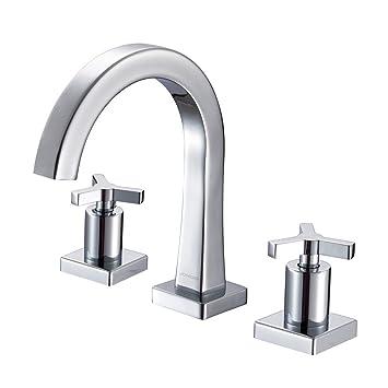 JOMOO 8 Inch Widespread Bathroom Sink Faucet With Cross Handles 3 ...