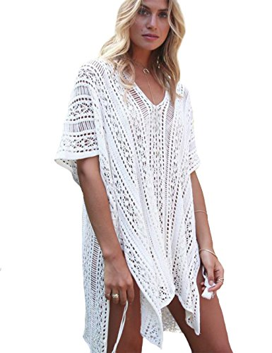 Kids Beach Cover (CM-Kid Womens Bikini Cover Up Lace Crochet Beachwear Summer Long Blouse)