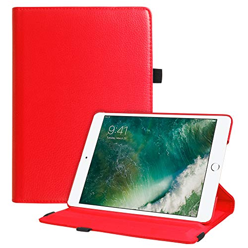 Fintie iPad 9.7 2018 2017 / iPad Air 2 / iPad Air Case - Multiple Angles Stand Smart Protective Cover with Auto Sleep Wake for iPad 9.7 inch (6th Gen, 5th Gen) / iPad Air 2 / iPad Air, Red