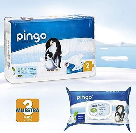 Pack descubrimiento pañales ecológicos pingo + toallitas (Talla 2 ...