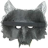 WARMWORD Máscara de Halloween de Disfraz de Cabeza de Lobo Unisex ...