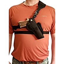 "Silver Horse Holster Chest/Shoulder Gun Holster | Fits ROCK ISLAND ARMORY 1911 w/5"" BARREL & Other Similar Sized 1911's w/5"" Barrel"