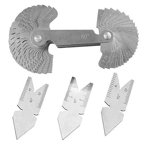 Feiyang Screw Thread Pitch Gauge + Center Gauge,Lathe Tools Set,Metric and ()