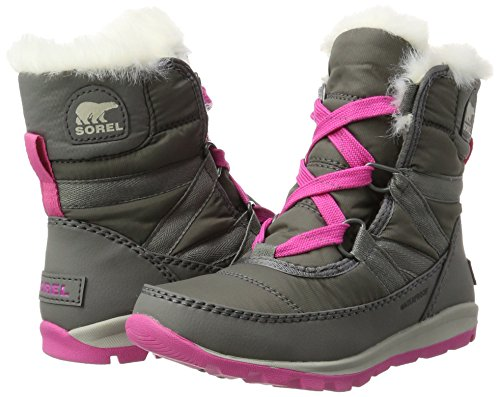 Sorel Youth Whitney Short Lace Boot Quarry/Pink Ice (4.5 Big Kid) by SOREL (Image #5)