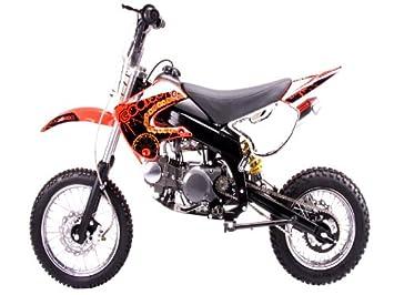 Dirt Bike 125cc With A Semi Auto Clutch Red Automotive