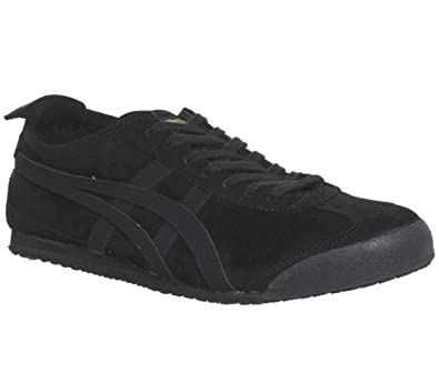 Asics Tiger Schwarz 66 Onitsuka Echtleder Turnschuhe Sneaker Schuhe Mexico qGSUzMpV