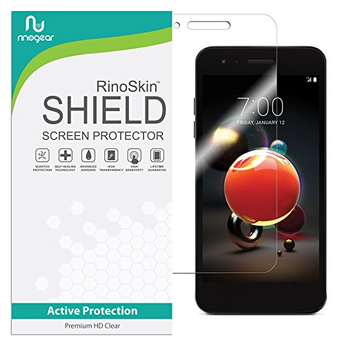 LG Aristo 2 Screen Protector (Edge-to-Edge) RinoGear Flexible HD Crystal Clear Anti-Bubble Unlimited Replacement Film
