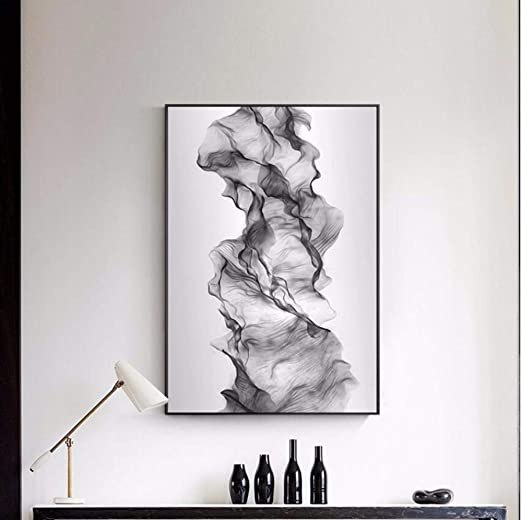 Chaoaihekele Moderno Resumen Blanco Y Negro Efecto 3D Lienzo Arte ...