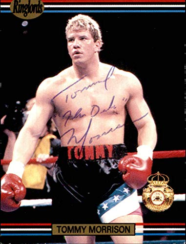 1991 Ringlords #NNO Tommy Morrison RIP In-Person AUTOGRAPH WBA Boxer Sample Promo The Duke