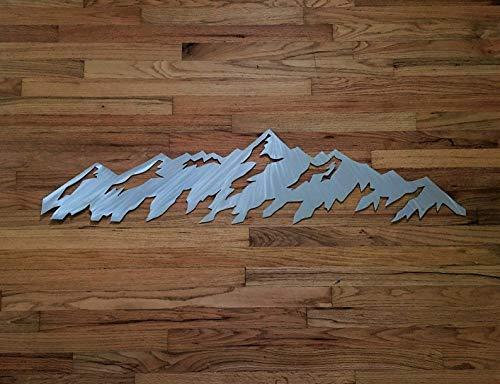 Telluride Colorado Mountains Metal Wall Hanging Ski Resort Area Snowboarding Cabin Lodge Artwork ()