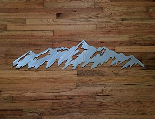 Telluride Colorado Mountains Metal Wall Hanging Ski Resort Area Snowboarding Cabin Lodge Artwork