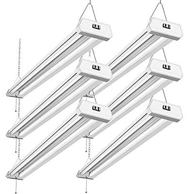 42W Linkable 4FT LED Shop Light BBOUNDER 5000K LED Work Shop Lights LED Utility Shop Light Ceiling Fixture (6 Pack)