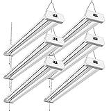42W Linkable LED Shop Light for Garage BBOUNDER 4FT 5000K Led Garage Lights Surface and Hanging Mounting for Warehouse Workshop Garage Workbench (6 Pack)