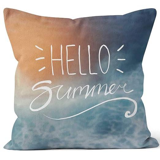 Nine City Hello Summer Typography on Sunshine - Funda de ...