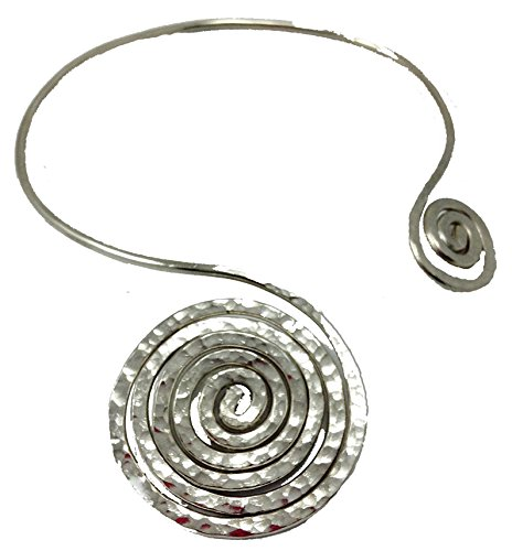 Elaments Design Chakra Collar Necklace Spiral Infinity Design Fits Neck Sizes 12-14 Inches (Spiral Design Necklace)