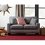 Truly Home UPH100007 Andrew Loveseat 61 in Essex Gray
