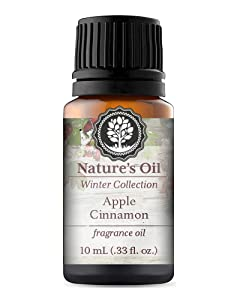 Apple Cinnamon Fragrance Oil 10ml for Diffuser, Making Soap, Candles, Lotion, Home Scents, Linen Spray and Lotion