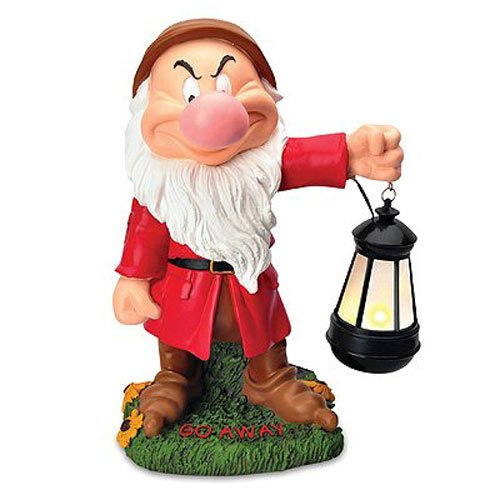 WOODS INTERNATIONAL 4092 Grumpy Solar Statue