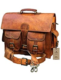 Crafat Classic Leather Messenger Satchel Laptop Leather Bag Leather Messenger Bag