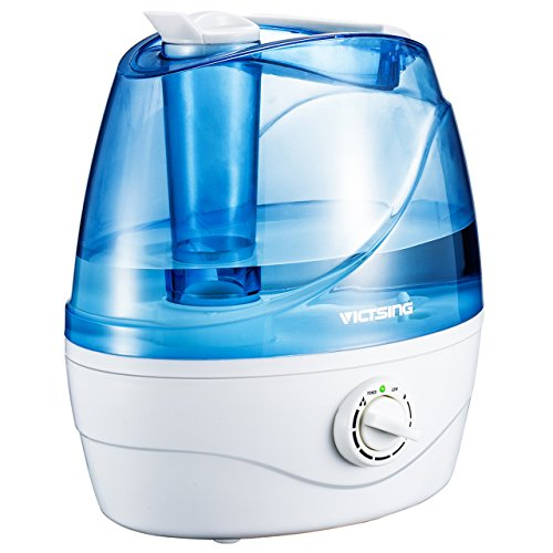 VicTsing Cool Mist Humidifier, 2L/0.53Gallon Ultrasonic Air Purifier, Dial Knob Mist Control with Whisper Quiet, Auto...