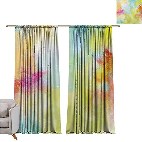 DESPKON-HOME 3D Pattern Print Curtain Home Decoration,Colorful Cloudy Milky Way Like Blur Smokey Colors Dust Powder Universe Outer Space Print Grommet Curtain Backdrop (63W x 72L inch,Multicolor) (Iron Craft 72 In Powder)