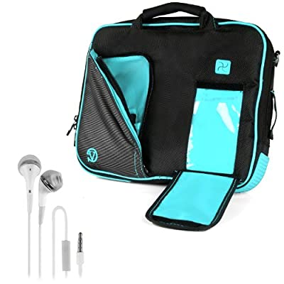 VanGoddy Pindar Sling - Pro Deluxe Shoulder Messenger Carrying Bag for Lenovo Yoga 2 13' inch Windows Laptop + White Hands-free Earphones Headphones w/ Microphone