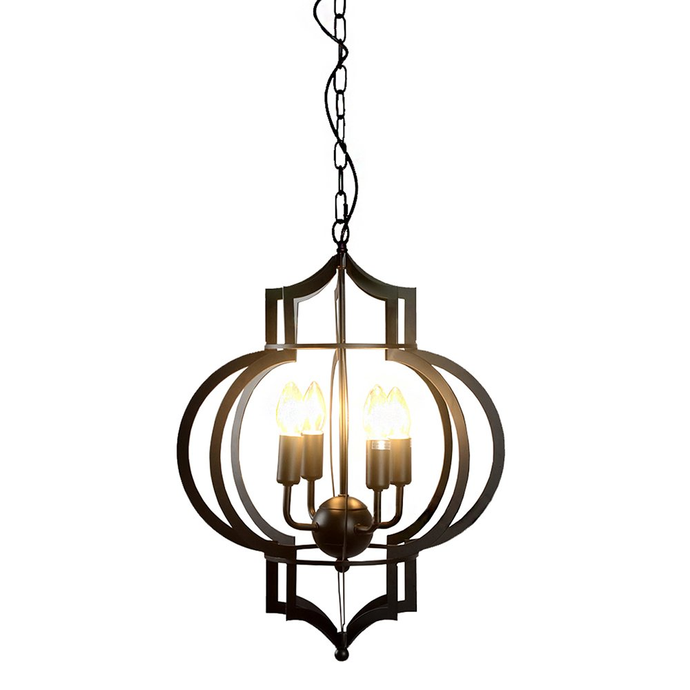 Warehouse Of Tiffany Ld4046 Addison 4 Light Chandelier 17 Black Com