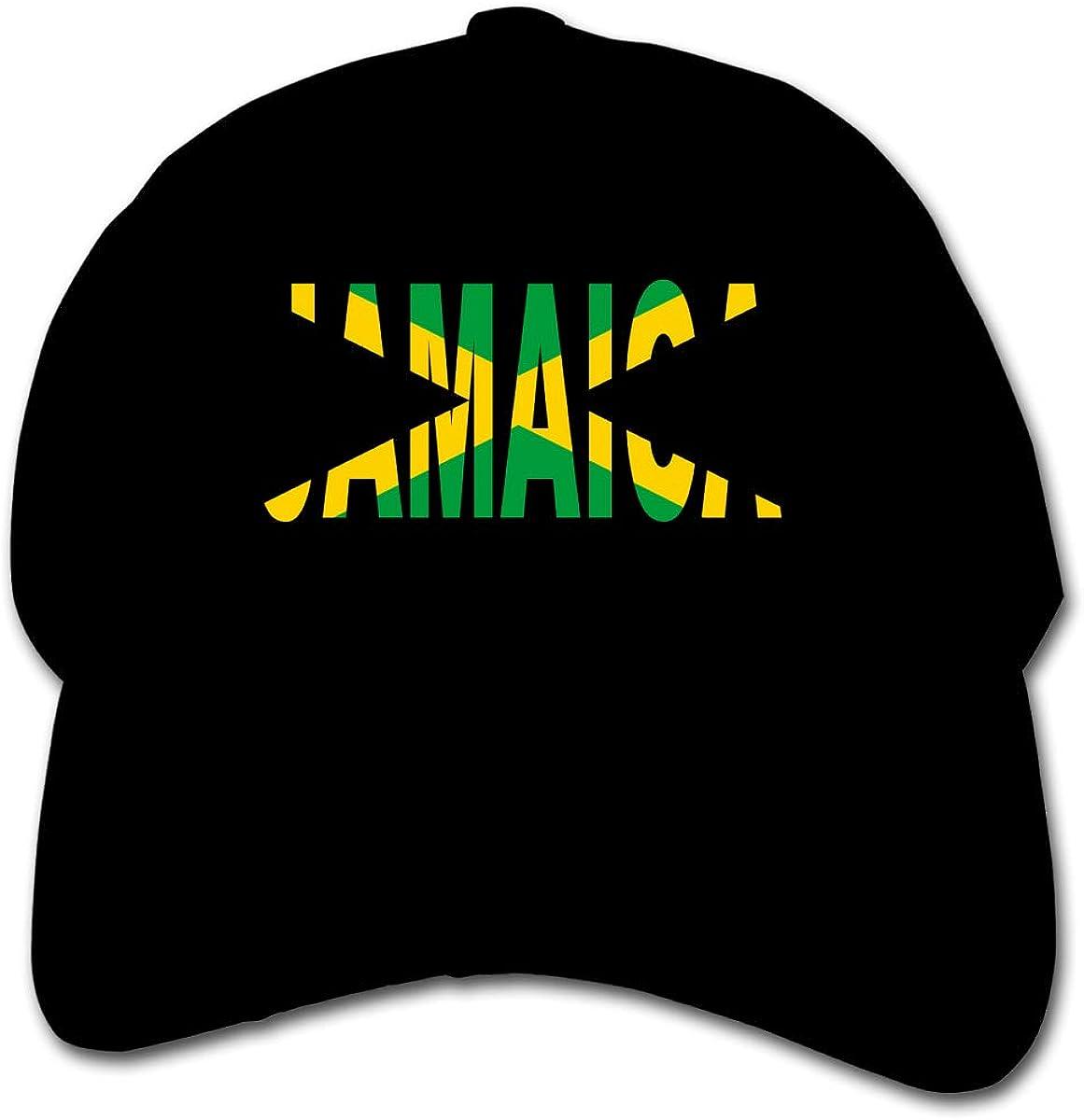 Jamaican Flag Kids Baseball Cap Hat Unisex Toddler Sun Hat Adsjutable Trucker Hat