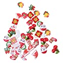 Fityle 約50個入り DIY クリスマス 樹脂 カボション ビーズ ボタン スクラップブッキング アクセサリー 装飾の商品画像
