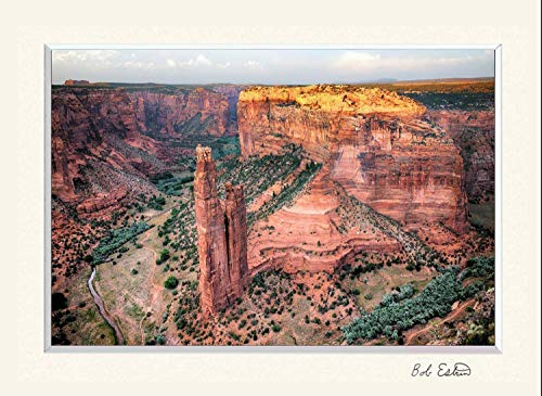 11 X 14 Inch Mat Including Photograph of Spider Rock in Canyon De Chelly, Arizona