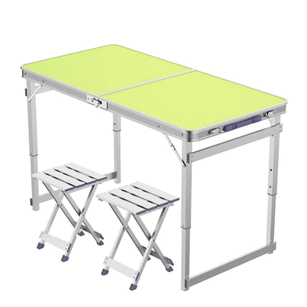 Tische Klapptisch Camping, Metallklappen Stühle, Falten Desk for Innen- oder Außenanwendung, Haltbarkeit und einfache Reinigung einfache Lagerung