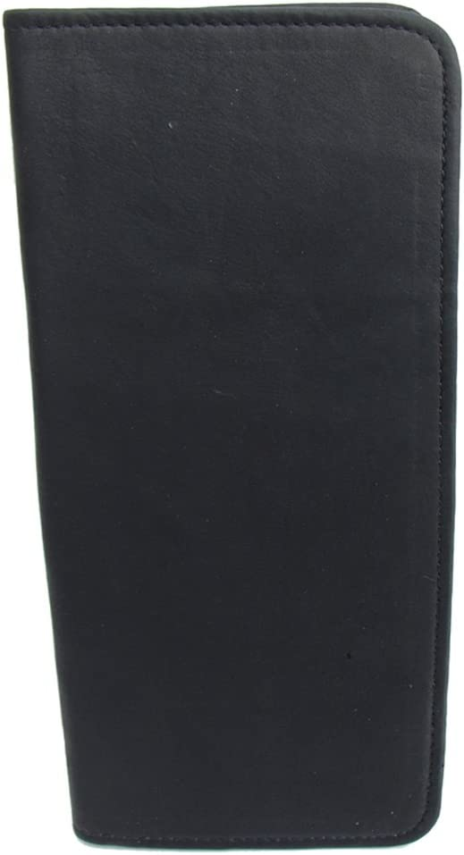 One Size Piel Leather Passport Ticket Holder Red