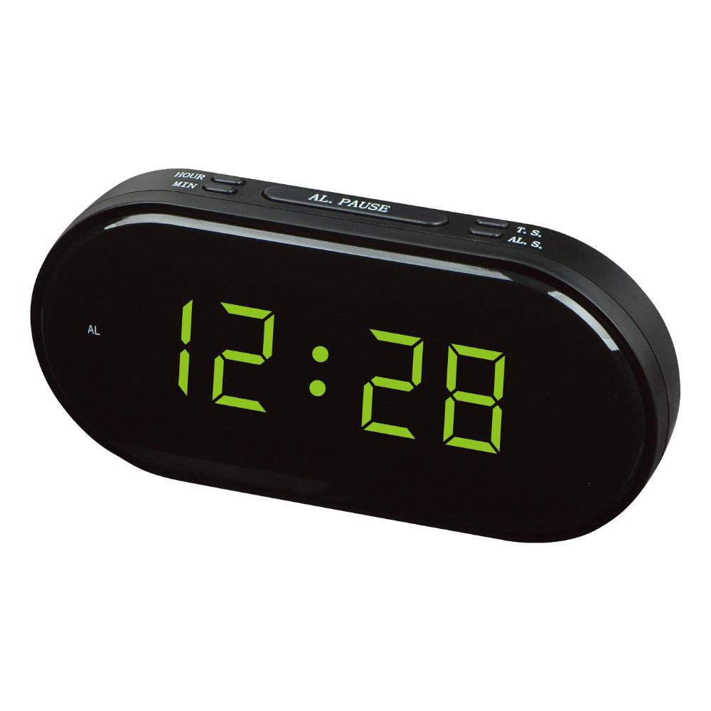 Kaxima Kaxima Kaxima Digitaler Wecker Elektronische LED Uhr Wecker Oval Nachttisch Wecker Leuchtdisplay Stecker Funkuhr 21  3.6  10,3 cm 801c57