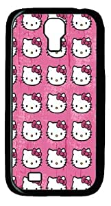 Hello Kitty Pattern PC Case Cover For Samsung Galaxy S4 And Samsung Galaxy I9500 Black