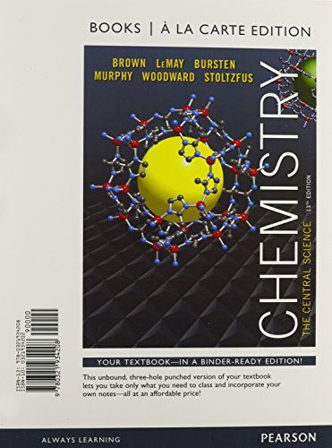 Chemistry: The Central Science, Books a la Carte Edition & Solutions to Red Exercises for Chemistry & Mastering Chemistry with Pearson eText -- Access Card  Package