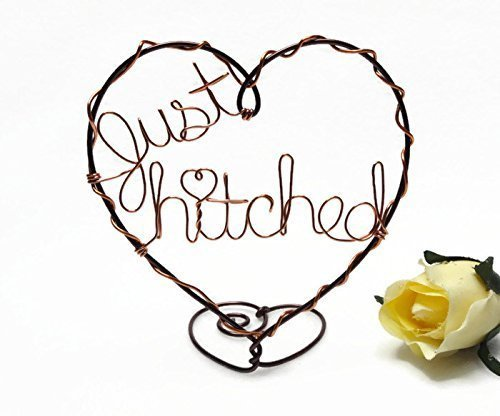 (Just Hitched/Still Hitched Wire Heart Cake Topper)