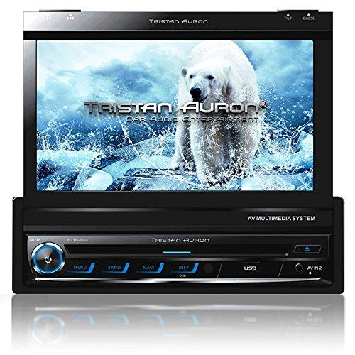Tristan Auron BT1D7007 Autoradio | 7,0'' Touchscreen | Navi Europa | Freisprechfunktion | USB/SD- Slot | CD/DVD |1 DIN