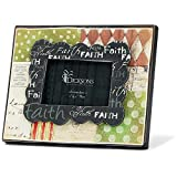 Faith Polka Dots and Patterns Wooden MDF 4 x 6 Photo Frame
