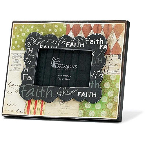 Dicksons Faith Polka Dots and Patterns Wooden MDF 4 x 6 Photo Frame ()