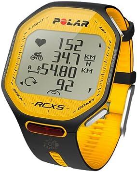 Polar RCX5 Tour de France - Reloj para Ciclismo con pulsómetro, Sumergible y Compatible con GPS, Sensor de zancada, de cadencia y de Velocidad (Amarillo/Negro): Amazon.es: Deportes y aire libre