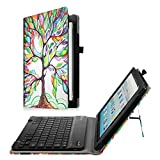Fintie Keyboard Case for All-New Amazon Fire HD 10 (7th Generation, 2017 Release) - Folio PU Leather Stand Cover with Removable Wireless Bluetooth Keyboard for Fire HD 10.1