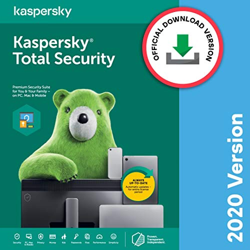 Kaspersky Total Security 2020 Latest Version – 1 PC, 1 Year (Code emailed in 2 Hours – No CD)