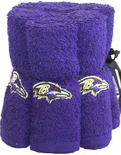 NFL Baltimore Ravens 6 Pack Washcloth Set by The Northwest Company