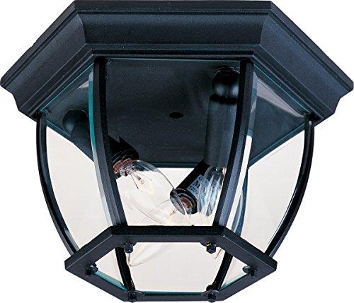 Maxim 1029BK, Maxim,  3-Light Outdoor Ceiling Mount, Black