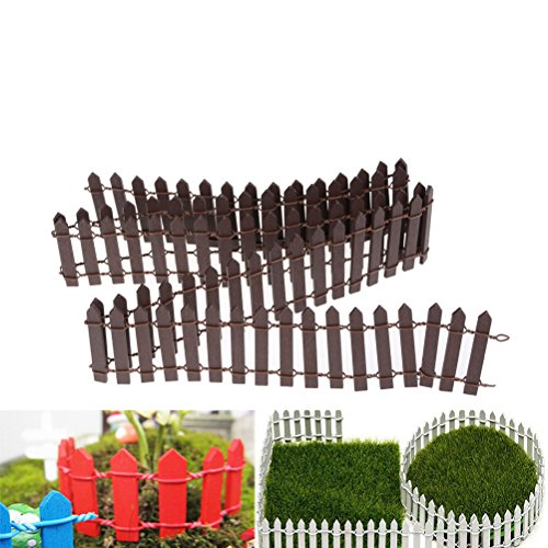 - Miniature Fairy Garden Fence,Wood Picket Fence Palisade,Decorative Fence Fencing for Outdoor or House Decor,Moss Framing Ornaments,DIY Micro-Landscape Plant Pots Bonsai Accessories,120