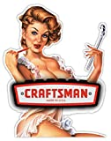 CRAFTSMAN Made in USA gorgeous woman sticker decal 4