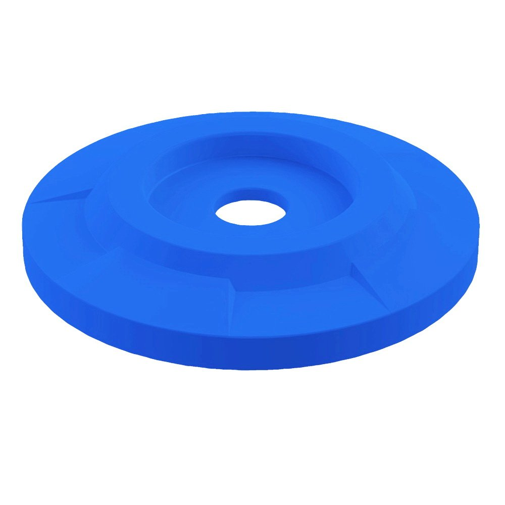 4'' Recycle Lid For 55 Gallon Drum | Blue